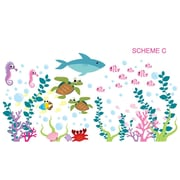 Wall Decal Source Under the Sea and Oceanic Wall Decal; Scheme C