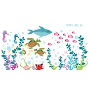 Wall Decal Source Under the Sea and Oceanic Wall Decal; Scheme A