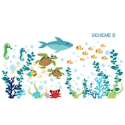 Wall Decal Source Under the Sea and Oceanic Wall Decal; Scheme B