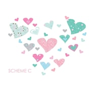 Wall Decal Source Heart Wall Decal; Scheme C