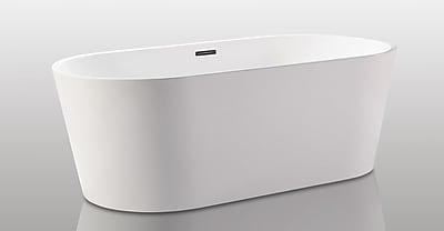 Kardiel HelixBath Agora 68'' x 32.25'' Soaking Bathtub
