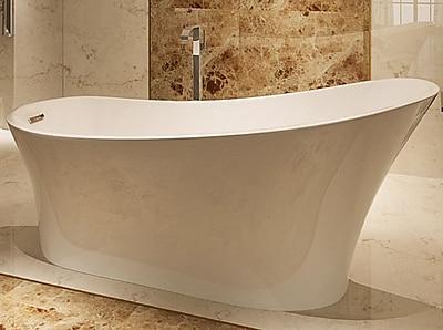 Kardiel HelixBath Alexandria 67'' x 31.5'' Soaking Bathtub