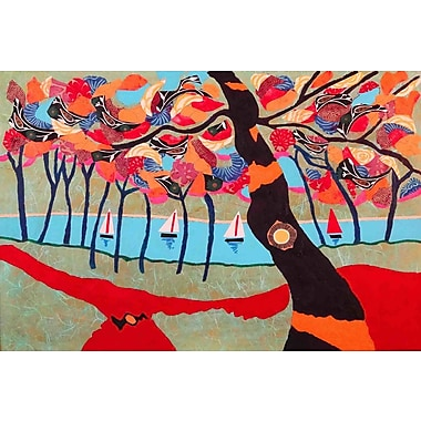 Marmont Hill 'Idyllic Series 5' by Lisa Mee Painting Print on Wrapped Canvas; 16'' H x 24'' W