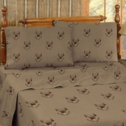 Blue Ridge Trading Whitetail Ridge Cotton Sheet Set; Queen