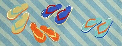 Liora Manne Frontporch Flip Flops Area Rug; Runner 2'3'' x 6'