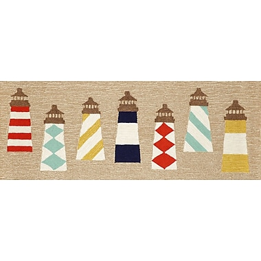 Liora Manne Frontporch Lighthouses Area Rug; Runner 2'3'' x 6'