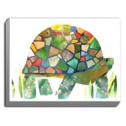 DiaNocheDesigns 'Turtle' by Marley Ungaro Graphic Art on Wrapped Canvas; 12'' H x 16'' W x 1.5'' D