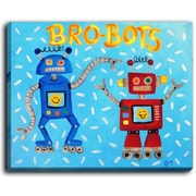 DiaNocheDesigns 'Brobots' by NJoy Art Painting Print on Wrapped Canvas; 30'' H x 40'' W x 1.5'' D
