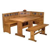 Just Cabinets Sedona Corner Nook 2 Piece Dining Set