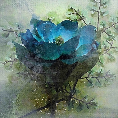 Marmont Hill 'Calm Blues' by Irena Orlov Painting Print on Wrapped Canvas; 40'' H x 40'' W x 1.5'' D
