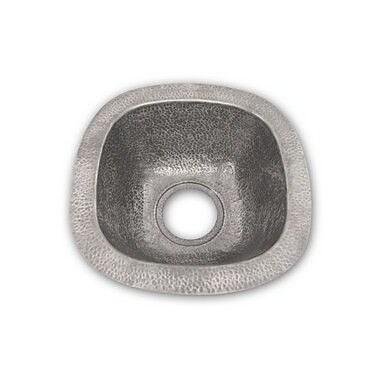 Houzer Hammerwerks 12.5'' x 12.5'' Schnapps Bar/Prep Sink; Pewter