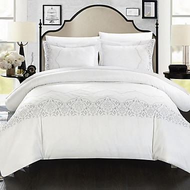 Chic Home Sophia Embroidered Bridal 7 Piece Duvet Cover Set; King
