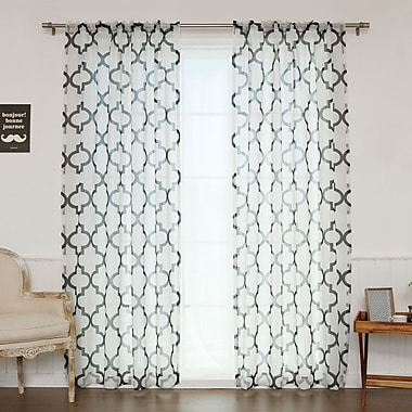Best Home Fashion, Inc. Single Curtain Panel; Black