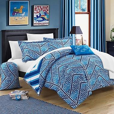 Chic Home Laredo 8 Piece Twin XL Comforter Set; Navy