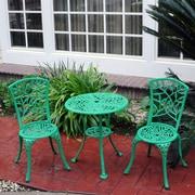 Meadow Decor 3 Piece Bistro Set; Green