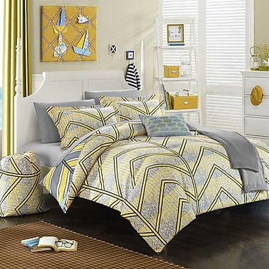 Chic Home Laredo 10 Piece Full Comforter Set; Yellow