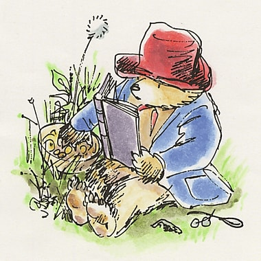 Marmont HIll 'Reading In The Grass' by Paddington Bear Painting Print on Wrapped Canvas