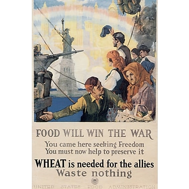 Marmont Hill Food Will Win the War Painting Print on Wrapped Canvas; 30'' H x 20'' W x 1.5'' D