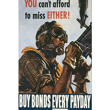 Marmont Hill Buy Bonds Every Payday Painting Print on Wrapped Canvas; 36'' H x 24'' W x 1.5'' D