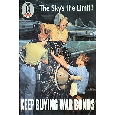 Marmont Hill Keep Buying War Bonds Painting Print on Wrapped Canvas; 60'' H x 40'' W x 1.5'' D