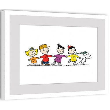 Marmont Hill Marmont Hill Group Skate by Charles M. Schulz Framed Painting Print; 20'' H x 30'' W