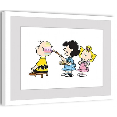 Marmont Hill Peanuts Painting Easter Egg by Charles M. Schulz Framed Painting Print; 20'' H x 30'' W