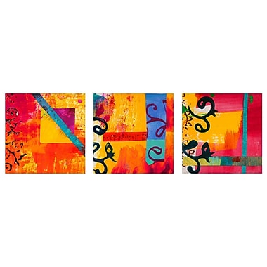 Oriental Furniture All That by Jazz Triptych 3 Piece Painting Print on Canvas Set