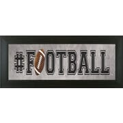 Pictures and Mirrors Football Framed Textual Art