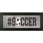 Pictures and Mirrors Soccer Framed Textual Art