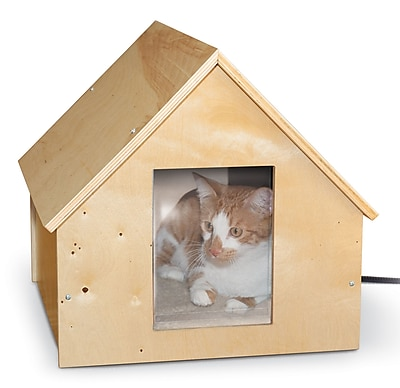 K&H Manufacturing Manor Birchwood Thermo Kitty House (Heated)