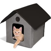 K&H Manufacturing Outdoor Kitty House (Unheated); Gray/Black