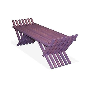Glodea Xquare French Bench X90 Picnic Bench; Purple Berry