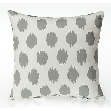Sweet Potato by Glenna Jean Swizzle Dot Throw Pillow; Gray / White