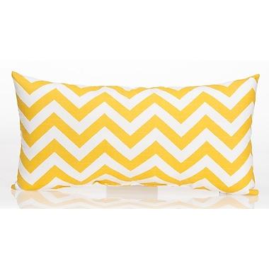 Sweet Potato by Glenna Jean Swizzle Chevron Lumbar Pillow; Yellow / White