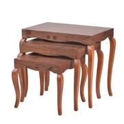 Oak Idea Victor 3 Piece Nesting Tables; Walnut
