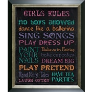 Pictures and Mirrors Girls Rules Framed Textual Art