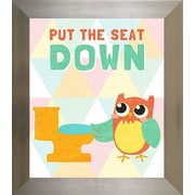Pictures and Mirrors Seat Down Framed Wall Art