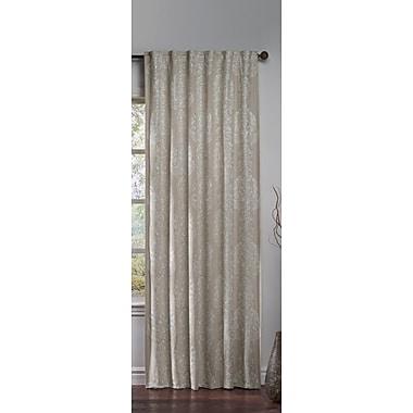 Cloud9 Design Corsana Damask Blackout Grommet Single Curtain Panel; Ivory