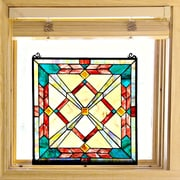 River of Goods Southwest Sunset Tiffany Style Stained Glass Window Panel