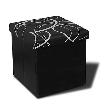 Best Price Quality Memory Foam Foldable Ottoman; Black