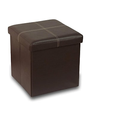 Best Price Quality Memory Foam Foldable Ottoman; Brown