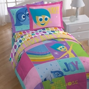 Disney Inside Out Rainbow Patchwork Twin Comforter