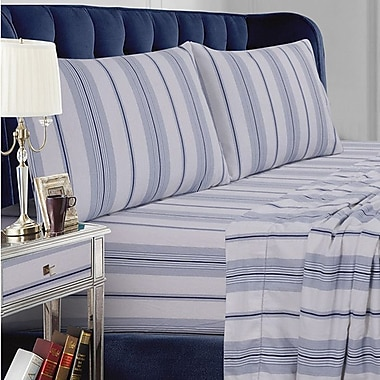 Tribeca Living Stripe Cotton Sheet Set; King