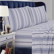Tribeca Living Stripe Cotton Sheet Set; Queen
