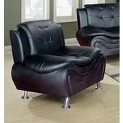 Living In Style Fiorina Faux Leather Armchair; Black