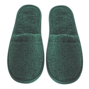 Arus Men's Turkish Terry Cotton Cloth Bath Slippers; Hunter Green