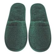 Arus Men's Turkish Terry Cotton Cloth Bath Slippers; Hunter Green