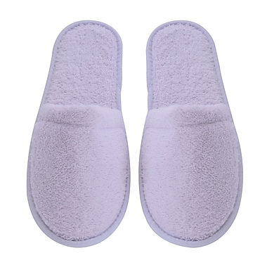 Arus Women's Turkish Terry Cotton Cloth Bath Slippers; Lilac
