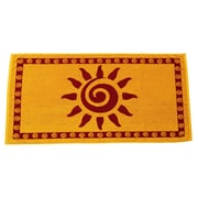 Arus Sun Terry Turkish Cotton Beach Towel; Gold