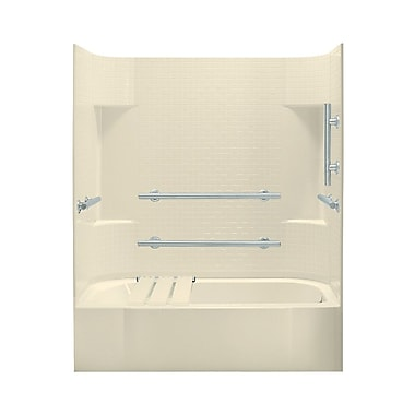 Sterling by Kohler Accord 74.25'' ADA Bath/Shower Kit w/ Right Hand Drain; High Gloss Almond